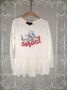A-Haut-T-shirt-Blanc-Casse-Motif-Chaussures-Strass-Oxford-Baby-T-4-ans-Neuf