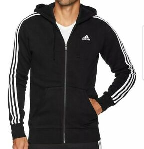 designer fashion best cheap new design Details about Adidas Men Full zipper Sweater Black Hood Size XLarge New ESS  3S FZ B B47368 $55
