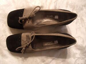 Aerosoles Black/Tan Suede Pumps Women Shoes US 6.5 B// EU 4.5 New No Box