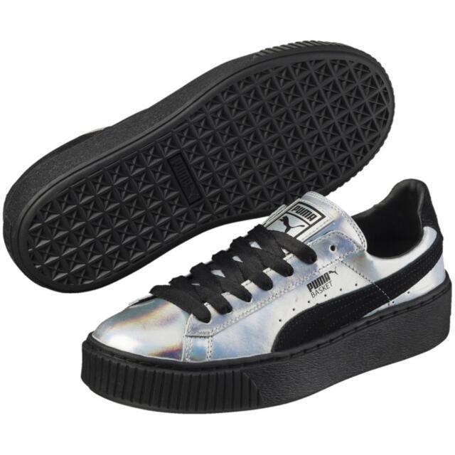 PUMA Basket Platform Glitter Sneaker SCHUHE Damen Gold