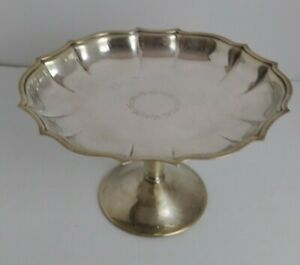Vintage Chippendale Ovale Plaqué Argent Footed compote Candy dish