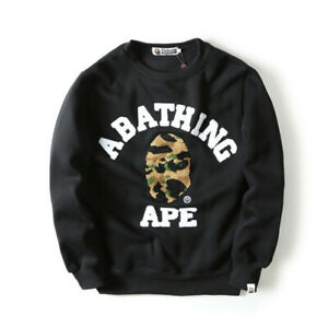 A Bathing Ape Monkey Head Bape Men/'s Hoodie Pullover Loose Sweatshirt Casual