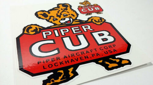 Piper Cub Aircraft Co Vinyl Sticker Lockhaven PA Vintage Style Airplane Decal