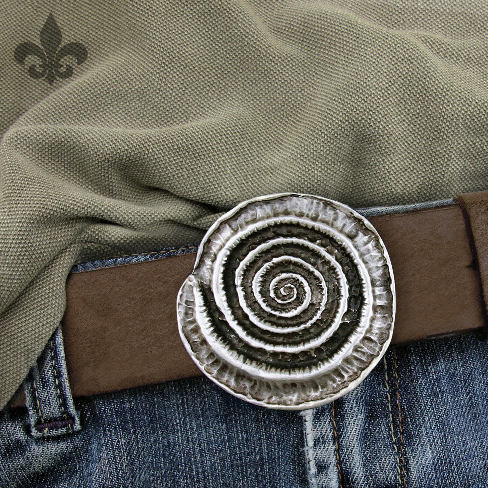 Spirale keltisch Symbol Mittelalter Gürtelschnalle Gürtelschließe Buckle 4cm NEU