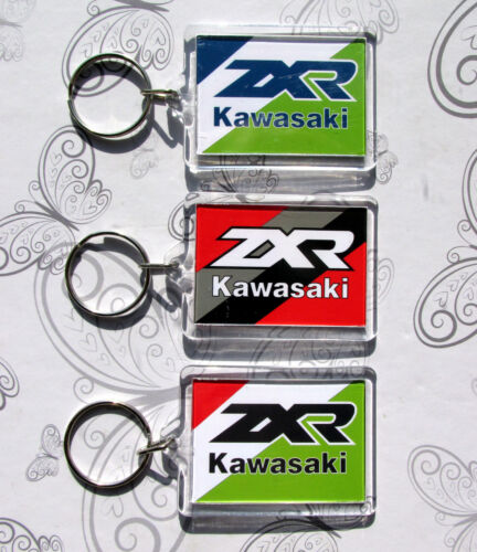 COLOUR MATCHED KAWASAKI ZXR750 H J ZRX400 HOOVER PIPE LIMITED EDITION KEY RINGS