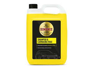 Simoniz Car Wash Wax Shampoo 5 Litre Deep Clean Carnauba Streak