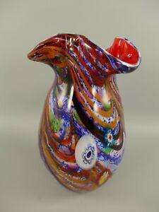 Glasvase Blumenvase Glas im Murano Style Antik Stil Höhe 33cm Vase