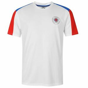 KIDS Glasgow Rangers FC Core Polyester T-Shirt Mens Football Soccer ... eb1fde686