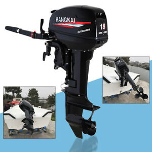 18HP-2-Stroke-Outboard-Motor-Boat-Engine-Water-Cooled-CDI-246CC-Kayak-Fishing-US
