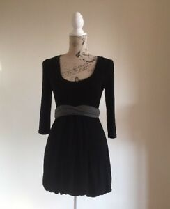 Black-With-Grey-Tie-Women-s-Dress-Alive-Girl-Size-8-Great-Condition