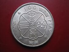 España 1966 Franco Caudillo 100 pesetas plata moneda en Alta Calidad
