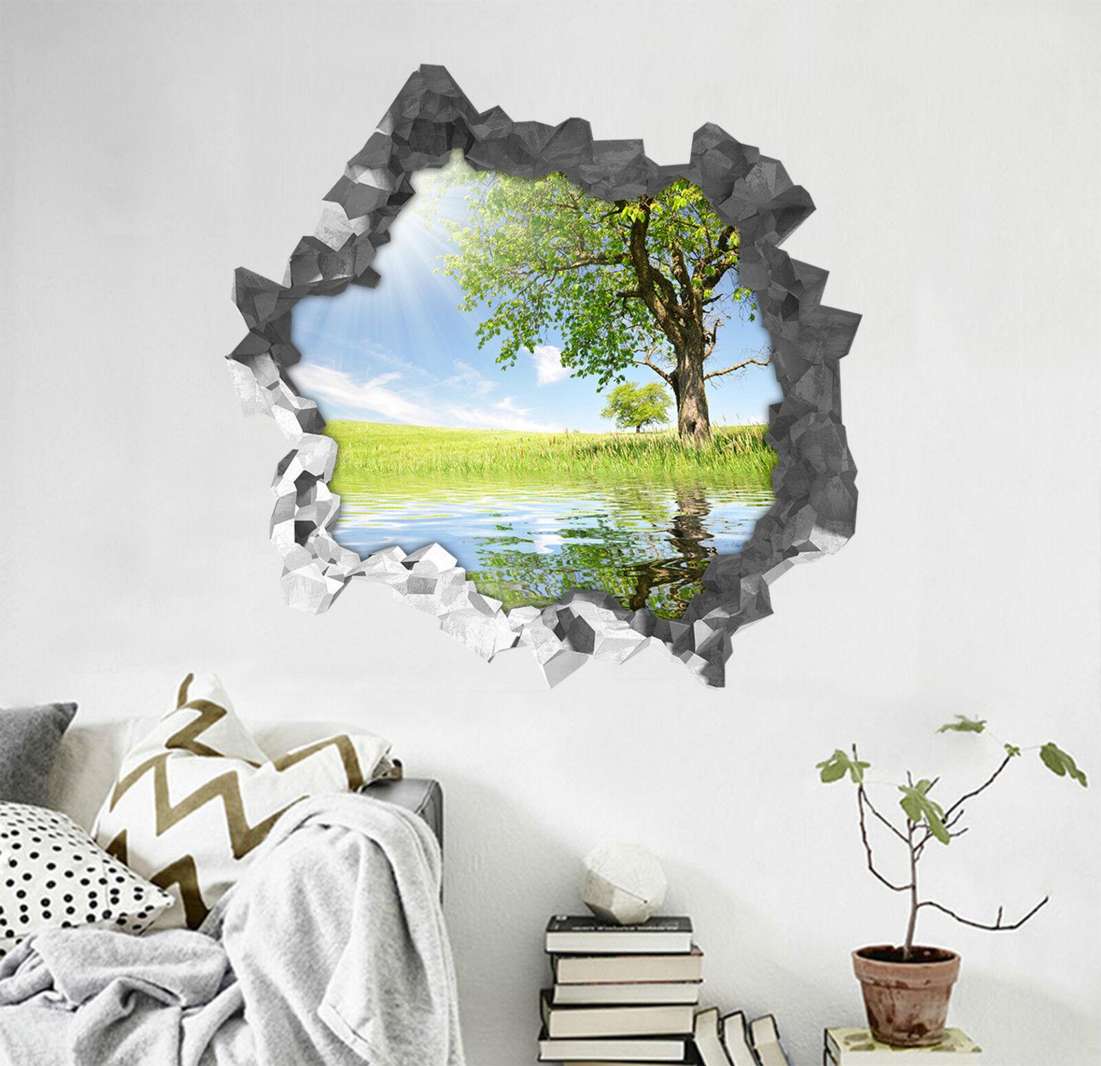 3D Sonnenbaum 523 Mauer Murals Aufklebe Decal Durchbruch AJ WALLPAPER DE Lemon