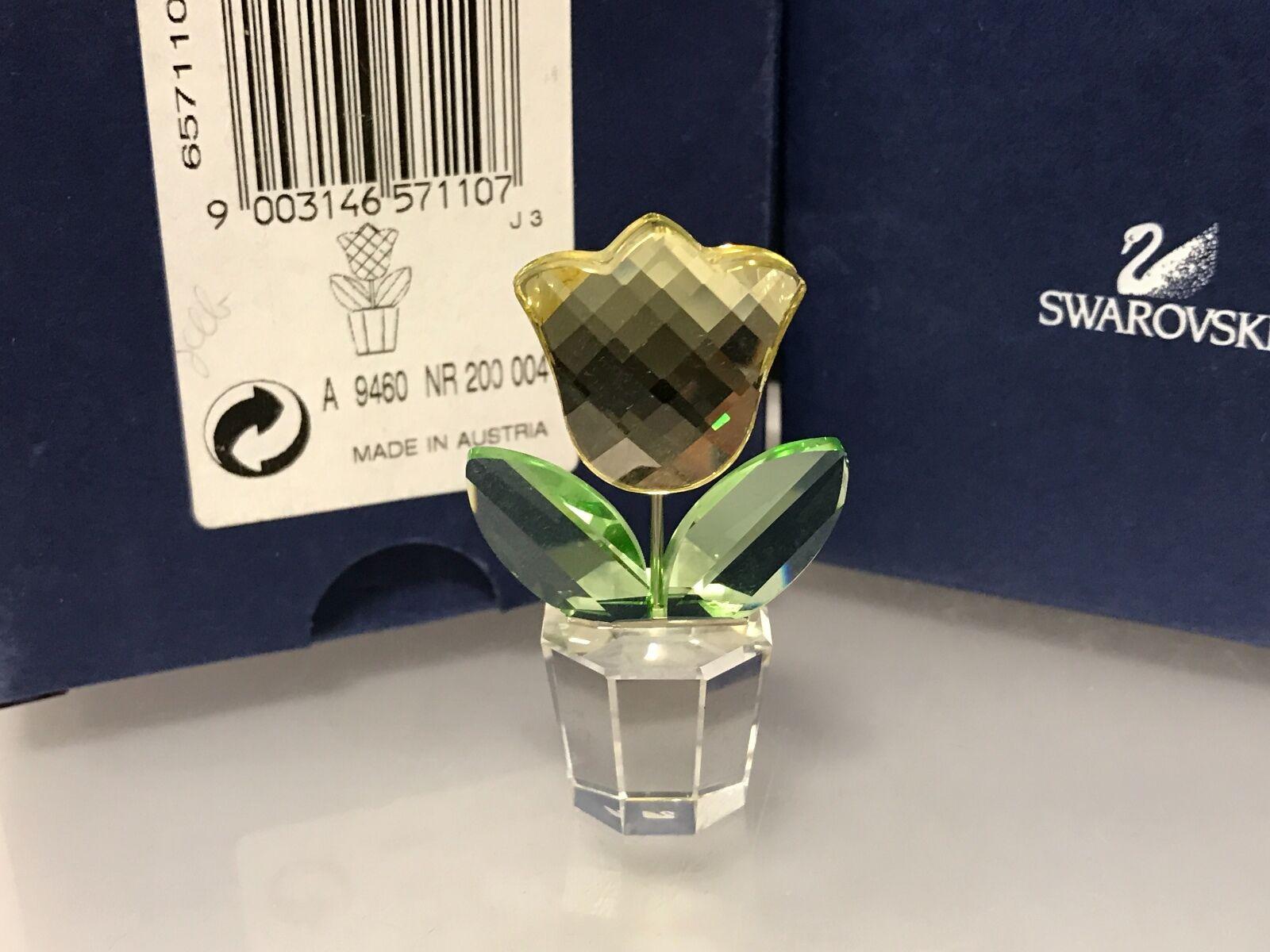 Swarovski pot FIGURINE pot Swarovski de fleurs fleur 5 CM. avec emballage d'origine & certificat. d8f1ef