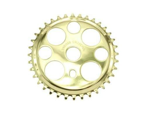 CHAIN RING SPROCKET  36T BMX LOWRIDER OTHERS LUCKY-7 STYLE   GOLD  NEW