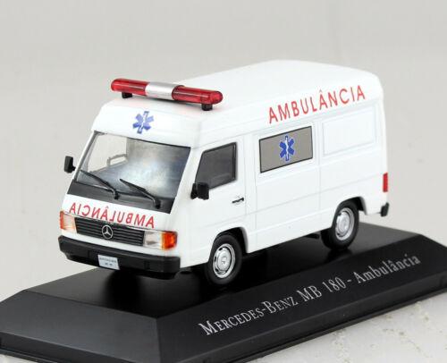MERCEDES 180 ambulanza autoambulanza Croce Rossa 1:43 Atlas modello di auto