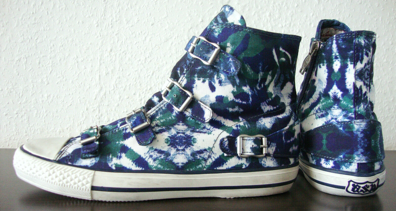 Ash Virgin nuevo tobillo-cortos señora zapatos Shoes camuflaje hebilla nuevo Virgin 096a60
