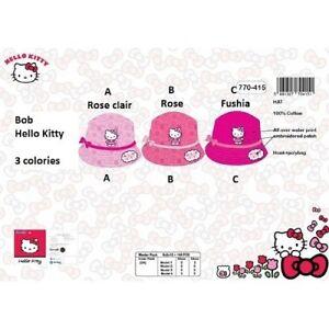 FUSHIA-model-C-Bob-HELLO-KITTY-Chapeau-NEUF-l-039-unite-100-coton