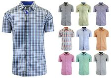 Mens Short Sleeve Dress Shirt Slim Fit Button Down Casual NWT - S M L XL XXL