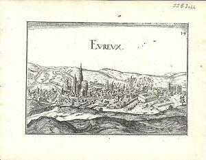 Antique map, Evreux