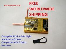 3-Axis Flight Stabilizer w/DSM2 2.4gh 6ch receiver for Airplane. Free shipping!