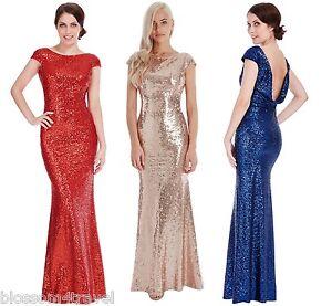 Goddiva-Sequin-Open-Back-Maxi-Evening-Full-Length-Dress-Bridesmaid-Prom-Wedding