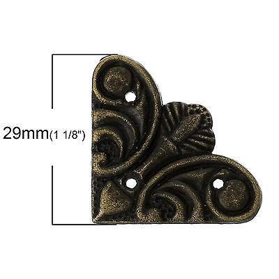 29mm sides antique bronze flat decorative corners for wooden boxes etc -