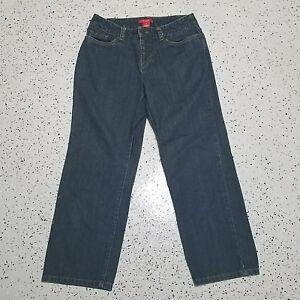 A-Line-Anne-Klein-Women-039-s-Denim-Blue-Capri-Jeans-Sz-4-100-Cotton