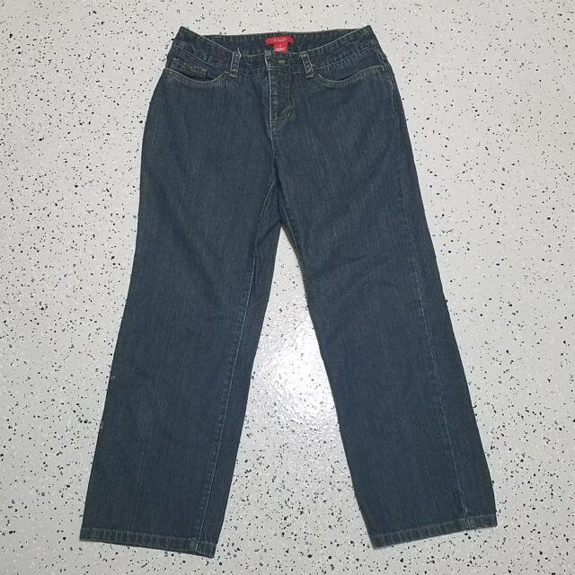 A Line Anne Klein Women's Denim Blue Capri Jeans ~ Sz 4 ~ 100% Cotton
