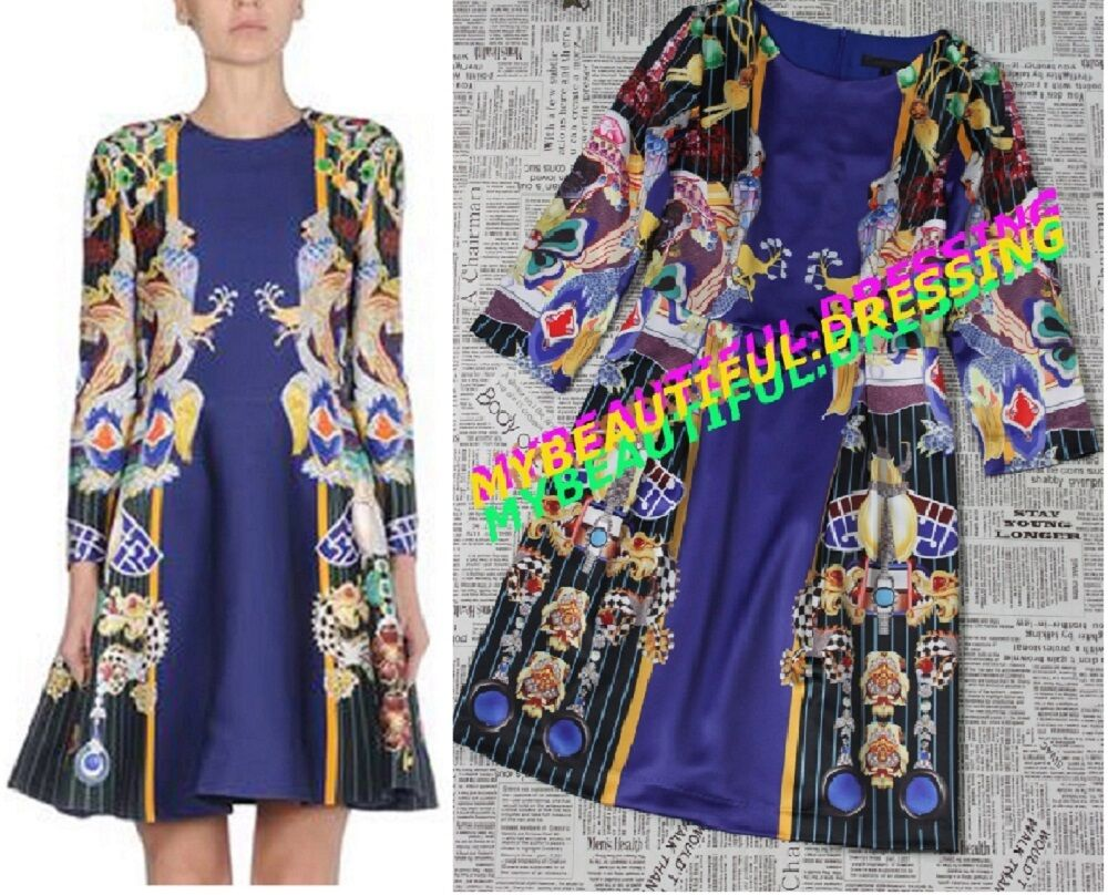 MW007454 - DESIGNER MULTCOLOUR RETRO PRINT DRESS