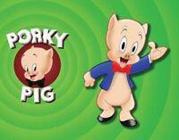 Porky Pig Fridge Magnet. Looney Tunes Logo......free Shipping