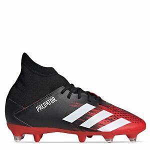 Adidas-Predator-20-3-jeune-SG-Chaussures-De-Football-Garcons-Terrain-Souple-Lacets-fixe