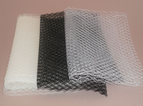 3 colours. Removable Birdcage Veil attaches easily to combs /& bands Made in UK