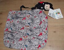 Disney Store Mickey Mouse Tsum Tsum Plush Roll-Up Shopper Bag Soft Toy