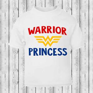 Warrior Princess Wonder Woman Baby T-shirt Toddler T-shirt Girls T-shirt