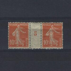 France-Yvert-n-138-Paire-millesime-5-neuf-avec-charniere