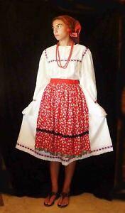 Romanian Folk Costume from Oas. NOT fancy handmade blouse. School dance assembly