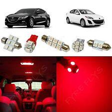 7x Red LED lights interior package kit for 2010-2013 Mazda 3 MT3R