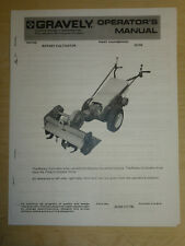 GRAVELY ROTARY CULTIVATOR OPERATOR'S MANUAL