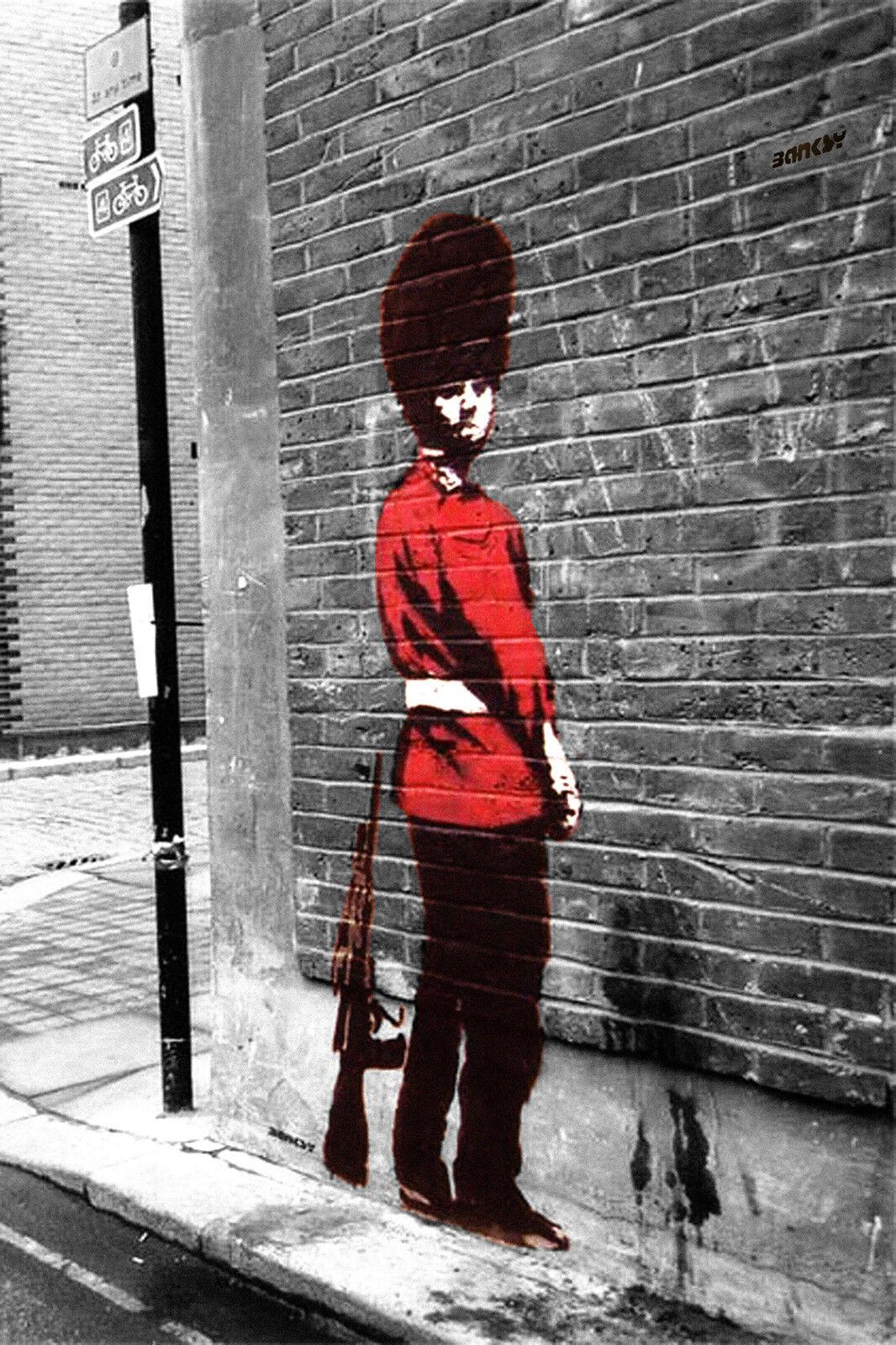 A2 SIZE 59.4cmX42cm BANKSY ART Poster Girl with Ballon