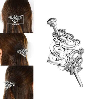 puristisch und edel 8 cm Haarspange aus gebürstetem Edelstahl