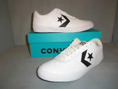 NEW Converse Point Star Ox Leather White Mens Shoes Sneakers Size ...