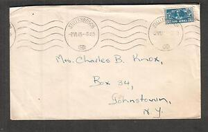 South-Africa-Jul-1945-WWII-no-censor-cover-Stellenbosch-to-NY