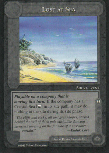 Edition Mint//N.Mint 1995 ME55 Lost at Sea Middle Earth The Wizards CCG bb Lim