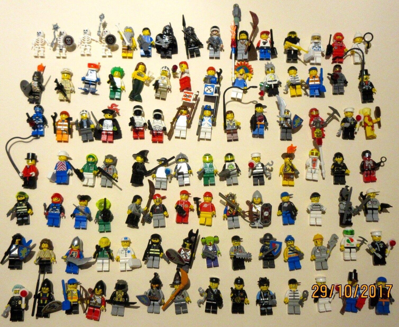 ♥ LEGO ♥ 99 PERSONAGGI MIX, tutti con copricapo e accessori, raccolta la raccolta
