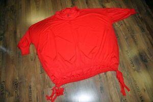 Lagenlook-BIG-Ballon-Pulli-viele-Zugbaender-soo-crazy-TOMATEN-ROT-EG-88-cm-Weite