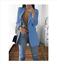 Women-Slim-Casual-Blazer-Jacket-Top-Outwear-Long-Sleeve-Career-Formal-Long-Coat thumbnail 15