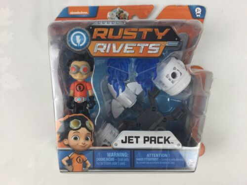 Nickelodeon Rusty Rivets Jet Pack Easy Build toy avec Jet Pack et Figurine