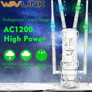 Wavlink-AC1200-Outdoor-Wireless-WiFi-Repeater-High-Gain-AP-2-4-amp-5G-Range-Extender