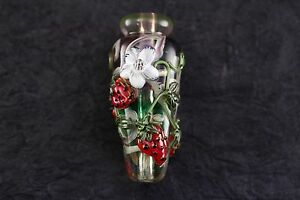 Leah-Fairbanks-Strawberry-and-Blossoms-Lampworked-Glass-Bead