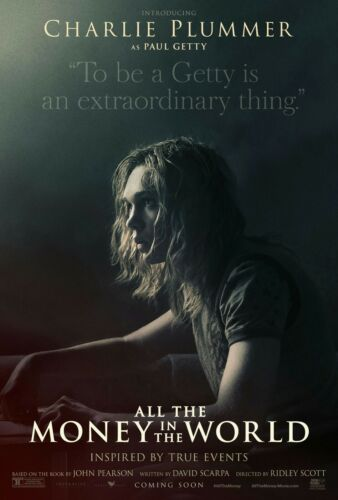 All The Money in The World Charlie Plummer Movie Poster 13×20 24×36 27×40 32×48/""